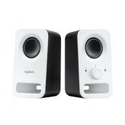 Logitech Altavoces 2.0 LOGITECH Z150 blanco (PC - 3 W - Control de volumen)