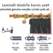 Laminált tömörfa karnis szett, natúr/140cm/Cikksz:095002