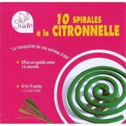 Siam Kit anti-moustique - 10 spirales Citronnelle + 2 socles