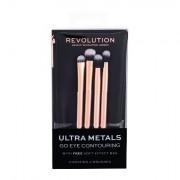 Makeup Revolution London Brushes Ultra Metals Go Eye Contouring pennelli make-up 1 pz donna