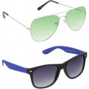 Redleaf Aviator, Wayfarer Sunglasses(Green)