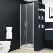 vidaXL Uși cabină de duș, mătuit, 80 x 185 cm, ESG