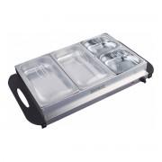 Уред за подгряване на храна Royalty Line RL-BFS4.7, 600 W, 3 отделения, Температура от 65-75°C, Инокс
