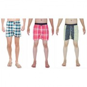 Kotty Mens Cotton Printed Multicolor Boxer Shorts Combo ( Pack of 3 PC)