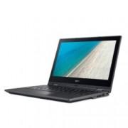"Лаптоп Acer TravelMate B118 TMB118-G2-RN-P36Z (NX.VHREX.003), четириядрен Gemini Lake Intel Pentium N5000 1.1/2.7 GHz, 11.6"" (29.46 cm) Full HD IPS Glare Touchscreen Display, (HDMI), 4GB DDR4, 128GB SSD, 1x USB 3.0, Windows 10"