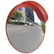 vidaXL Wypukłe lustro drogowe, 60 cm, pomarańczowy, plastik