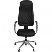 Cadeira Presidente Luxo Preta com Estrela e Braços Cromados - Pethiflex