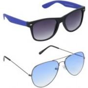 Hrinkar Wayfarer Sunglasses(Grey, Blue)