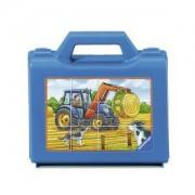 Пъзел - кубчета Ravensburger 12 части - Фермерски машини, 7007432