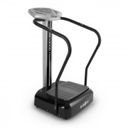 KLARFIT Goodvibe, вибриращ уред за упражнения с тренировъчен компютър, измерване на пулса, колелца (FIT18-GOODVIBE-SI)