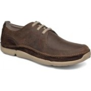 Clarks Trikeyon Fly Brown Leather Outdoors For Men(Brown)