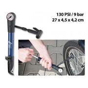 Mini pompe à vélo avec manomètre 9 bar et support pour cadre