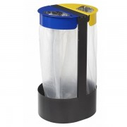 Atoutcontenant Support sac poubelle de tri sélectif 2 compartiments