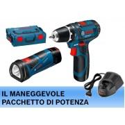 Bosch TRAPANO AVVITATORE A BATTERIA GSR 10,8-2-LI + TORCIA