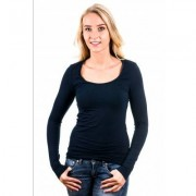 Garage Women Longsleeve T-Shirt Round Neck Navy ( art 0704)