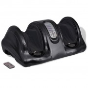 vidaXL Уред за шиацу масаж на стъпалата, черен