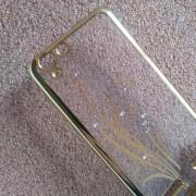 Силиконов калъф за Lenovo K5 прозрачен с кристали