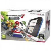 Consola Nintendo 2DS HW Azul-Negro + Mk7