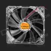 A057 silencioso ventilador de la caja de la PC w / LED luz de 4 colores - transparente