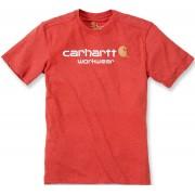 Carhartt Core Logo T-Shirt Rot L