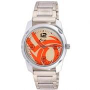 ismart Sliver Orange Fancy Print Gift Sport Analog i8 Men Wrist Watch