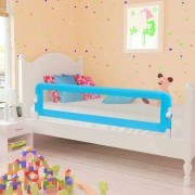 vidaXL Toddler Safety Bed Rail 150 x 42 cm Blue