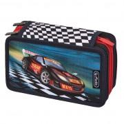 Penar echipat 31 piese 3 compartimente dimensiune 19,0x11,5x7,0 cm, motiv Super Racer