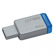 Kingston USB 3.0 Flash Drive DataTraveler 50 64 GB Silver