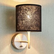 Black-gold wall light Salma with switch