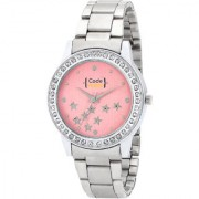 Code Yellow High Quality Metal Strap Pink Star Dial Womens Watch