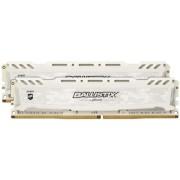 Memorii Crucial Ballistix Sport LT White DDR4, 2x4GB, 2400 MHz, CL16