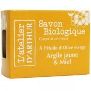L'Atelier d'Arthur Savon Argile jaune et Miel 100 gr – Corps et cheveux
