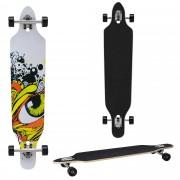 [pro.tec]® Monopatín Longboard para el cruising en la ciudad y el parque - 104x23x9,5cm - Skateboard (multicolor graffiti)