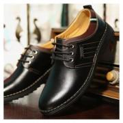 Zapatos Hombre Del Ecocuero Y Ocio - Negro
