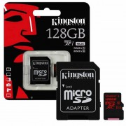 Micro SD Card, 128GB, KINGSTON microSDXC, 1xAdapter, UHS-I Class 3 U3 (SDCA3/128GB)