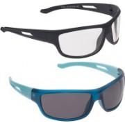 Vast Sports Sunglasses(Grey, Clear)