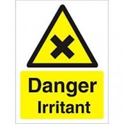 Unbranded Warning Sign Irritant Plastic 40 x 30 cm
