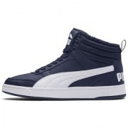 Puma Men's Navy Blue Rebound Street v2 FUR Sneakers