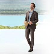 Karl Lagerfeld Lagerfeld Holiday-Suit Sakko oder Hose, 60 - Creme/Braun-Melange - Sakko