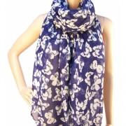 RAYFLECTOR Šátek modrý s bílými motýli