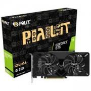 Видео карта Palit GeForce GTX 1660 6GB Dual, PALIT GTX1660 DUAL 6GB D5