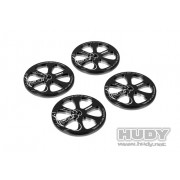 Hudy 109370 Alu set-up wheels for 1/10th rubber touring cars (4)