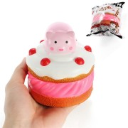 Squishy Piggy Cake 9.5cm Pink Pig Slow Rising With Packaging Collection Gift Decor Soft Toy