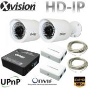 IP CCTV systém 2x Full HD IP bullet kamera + NVR