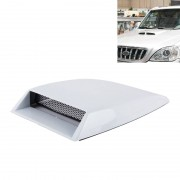 Auto Turbo stijl Air Intake Bonnet primeur voor auto Decoration(White)