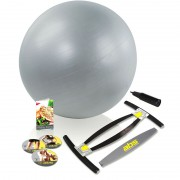 Aparat fitness pentru brate abdomen si coapse Gold's Gym ABS, minge inclusa