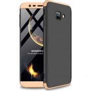 Husa telefon hurtel 360 Capac de protectie pentru intreaga carcasa fata + spate J4 Samsung Galaxy Plus 2018 J415 alb-auriu universal