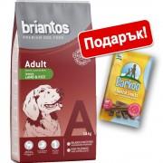 Briantos суха храна + Barkoo Dental Snacks подарък! - Adult агнешко и ориз (14 кг)
