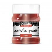 Pentart Metál bordó színű akril bázisú hobbi festék 230 ml