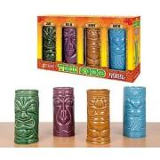 Accoutrements Ceramic Tiki Mug Party Pack Set of 4